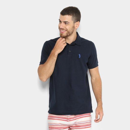 Camisa Polo Aleatory Piquet Color Logo Masculina - Azul Escuro ... 680338992ca53