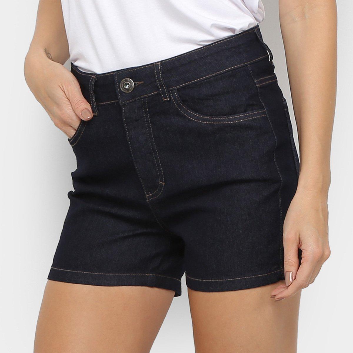 Foto 1 - Short Jeans Malwee Skinny Feminino