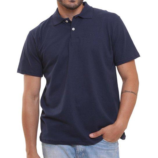 bb1eda8892aab Camisa Polo Oitavo Ato Básica Lisa Malha Piquet - Azul Escuro ...