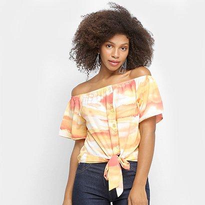 Blusa Lily Fashion Ombro A Ombro Tie Dye Feminina