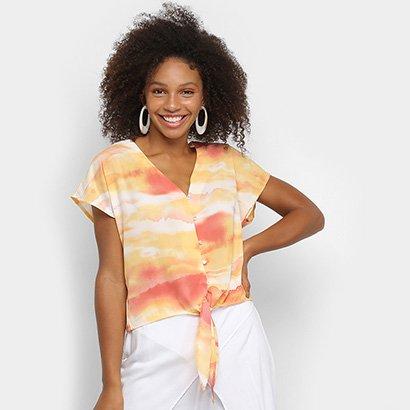 Blusa Lily Fashion Tie Dye Amarração Feminina