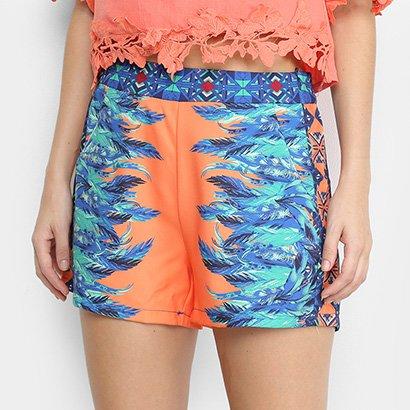 Shorts Heli Estampado Feminino