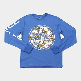 96353fea6 LANÇAMENTO · Camiseta Infantil O Neill Estampa Floral Manga Longa Masculina