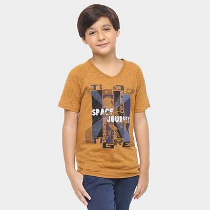 Camiseta Tigor Space Journey Infantil