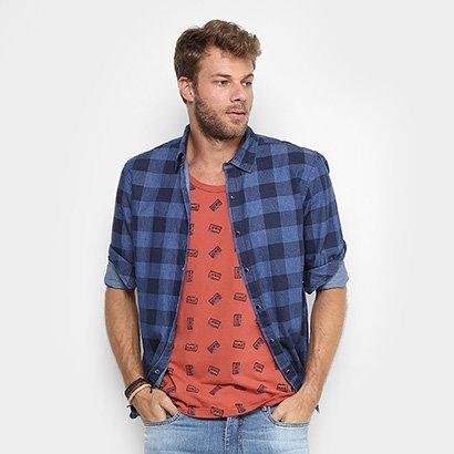 Camisa Xadrez Redley Indigo Masculina