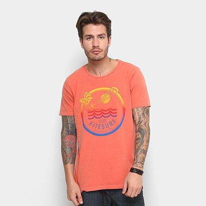 Camiseta Redley Tinturada Lobo Do Mar Masculina