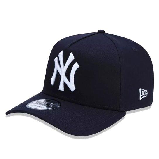 Boné New Era Aba Curva Mlb Ny Yankees Cla - Azul Escuro - Compre ... 52501bb3023
