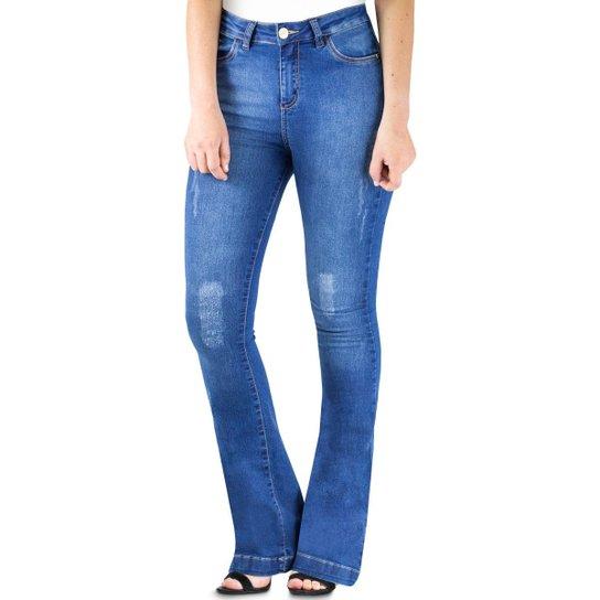 15ed62b2b Calça Klass Jeans Flare Feminina Skinny Stoned - Compre Agora | Netshoes