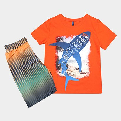 Conjunto Infantil Cativa Surf Is Up Masculino