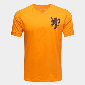 Camiseta Seleção Holanda Retro Times 1974 Masculina 117e6192b7dec