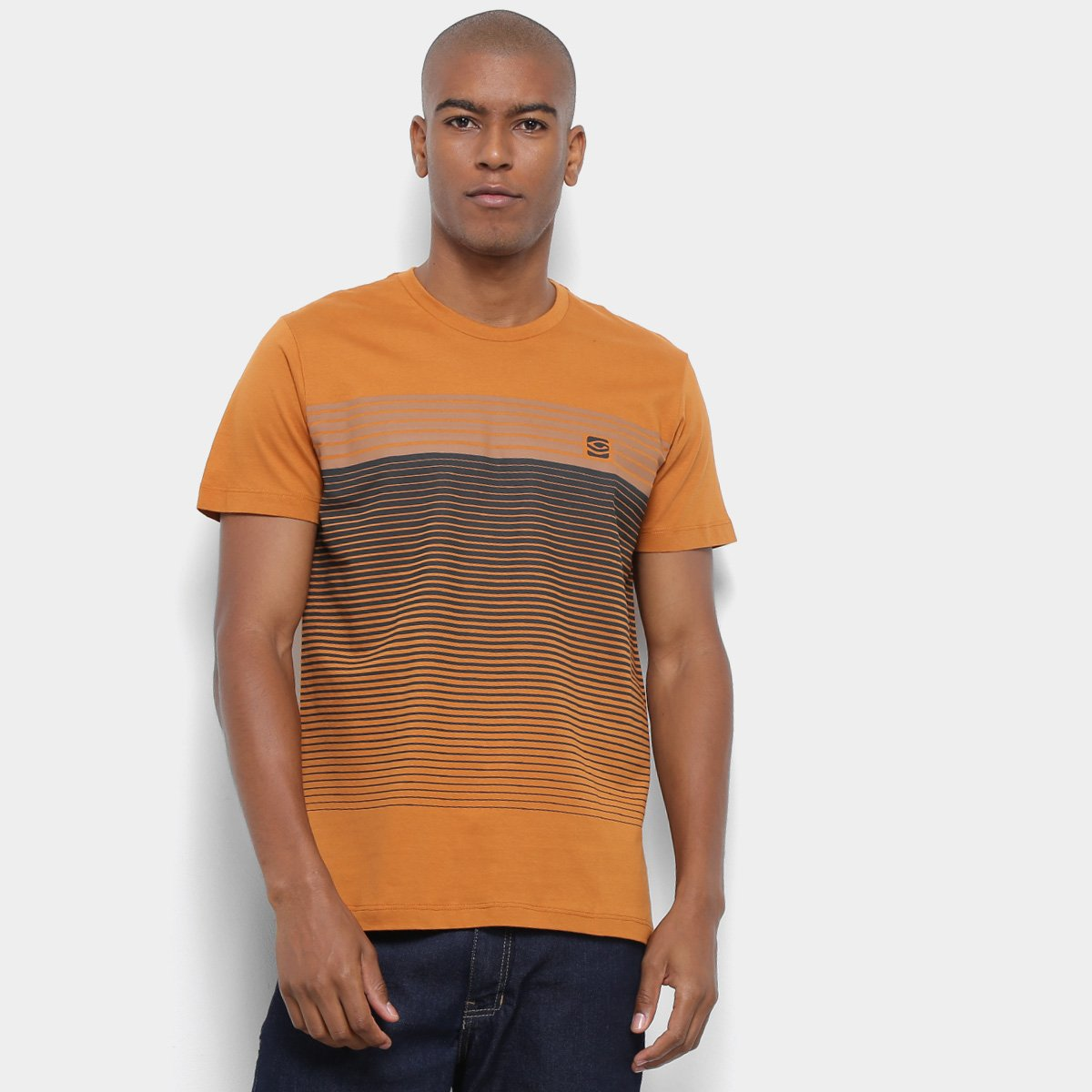 8eb897a47d Camiseta Long Island Listras Masculina