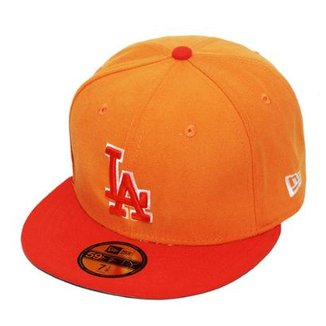 Boné New Era Aba Reta Fechado Mlb Los Angeles Tint Basic