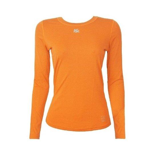 Camisa Térmica Kanxa Infantil Feminina Fator Proteção Solar Uv50 6277 -  Laranja 696f9c9c39c48