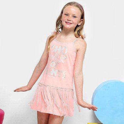 Vestido Infantil Dimy Candy Alcinha Franjas