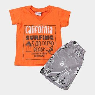 9b0a309acb Conjunto Infantil Candy Kids Curto California Surfing Masculino