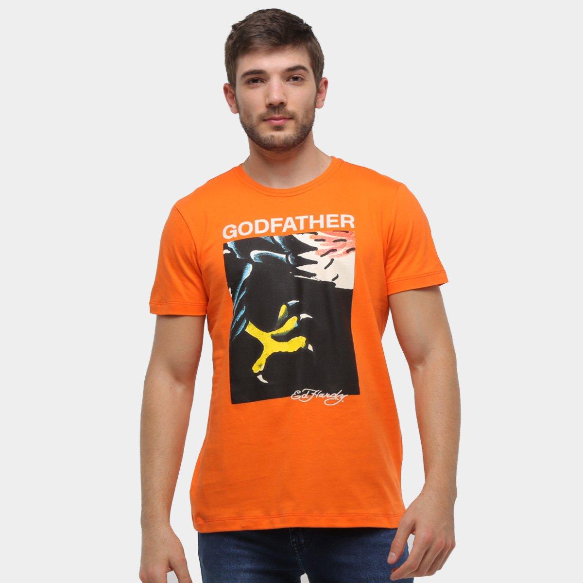 Camiseta Ed Hardy Eagle Close Masculina