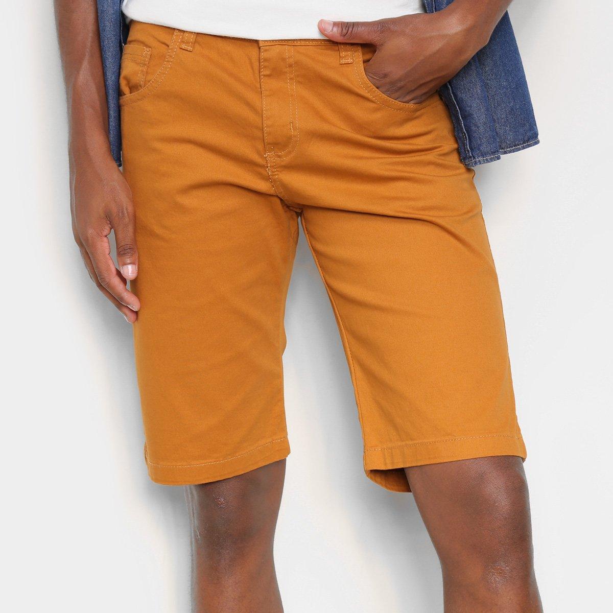 Bermuda Sarja Ecxo Básica Masculina