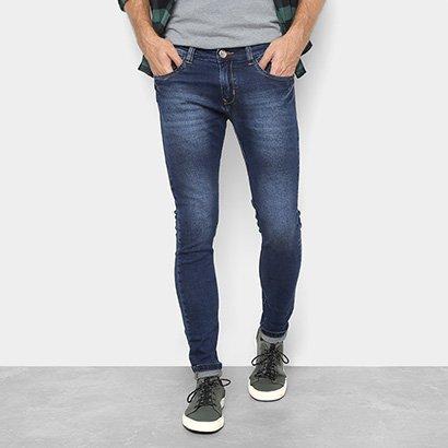 Calça Jeans Preston Five Pockets Escura Masculina