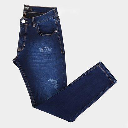 Calça Jeans Preston Confort Puídos Masculina