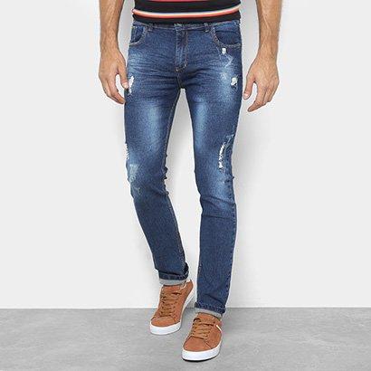 Calça Jeans Preston Destroyed Estonada Masculina