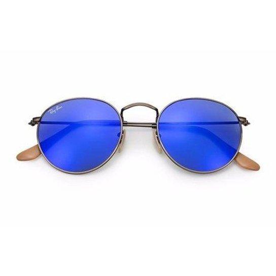 Óculos de Sol Ray Ban Round Metal - Azul Escuro - Compre Agora ... 5e9a2f9c48