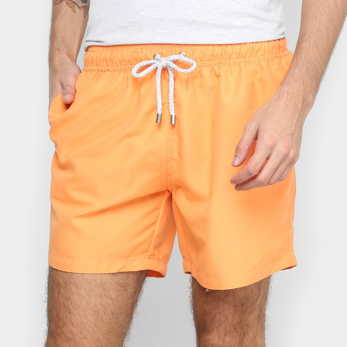 Shorts Barche Liso Masculino - Tam: G