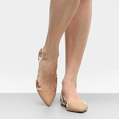 Sapatilha Shoestock Bico Fino Hibisco Feminina