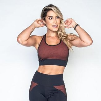 Top Fitness Honey Be Poliamida Hole Feminino