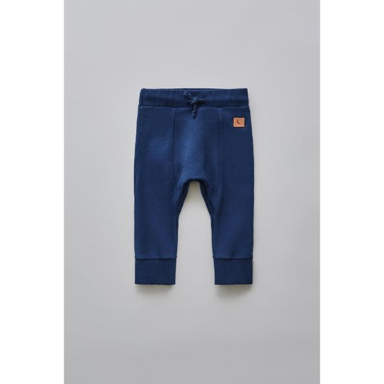 376740bb0 Calça Moletom Bebê Reserva Mini Básico Masculina - Azul Escuro ...