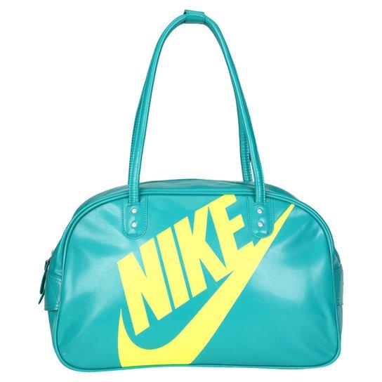 ba3b1c63e Bolsa Nike Heritage SI Shoulder Club - Verde Água+Amarelo