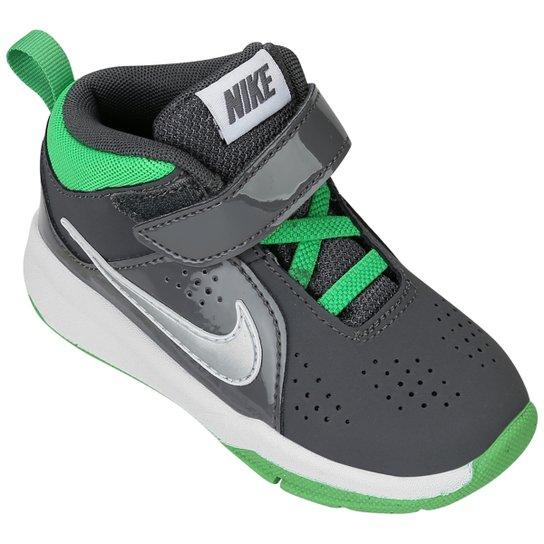 Tênis Nike Team Hustle D 6 Mid Infantil - Chumbo+Verde. Loading. 8de1d4056ef8d