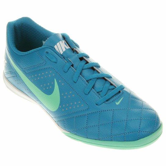 e8f76363ff6 Chuteira Futsal Nike Beco 2 Futsal - Azul e Verde Água - Compre ...