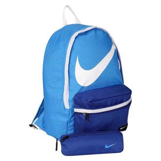f1e4f5b49 Mochila Juvenil Nike Halfday BTS - Azul Royal+Branco