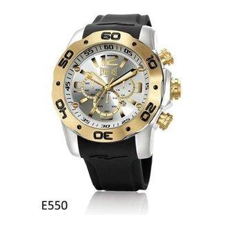 83643740b81 Relógio Pulso Everlast Cronógrafo Aço e Pulseira Silicone