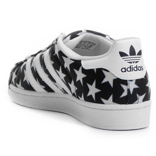 4605d7abd84 ... Tênis Adidas Superstar Toe Pack - Preto+Branco ...