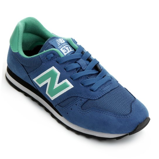 2470416368 Tênis New Balance 373 Retrô Running - Azul+Verde Água