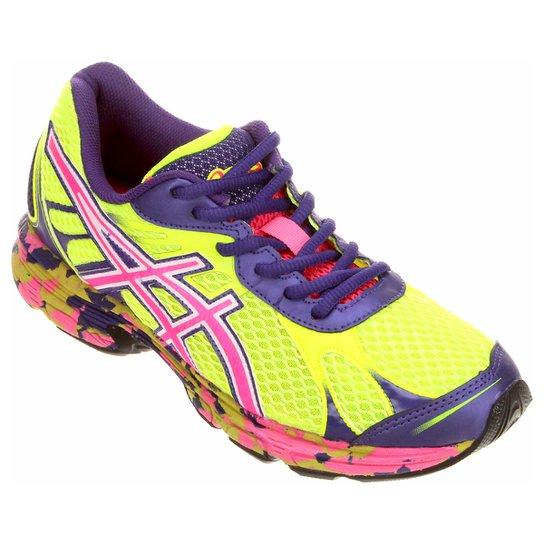 70d6733102be4 Tênis Asics Accelerato - Verde Limão e Pink