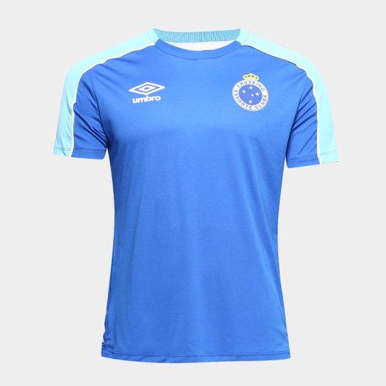 03bde0148 Camisa Cruzeiro 2019 Treino Umbro Masculina - Azul Royal e Branco ...