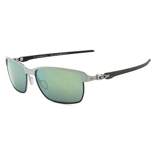 Óculos Oakley Tinfoil Carbon Lead Matte Black - Esmerald Iridium Polarizado  - Chumbo+Verde 5948c13e79