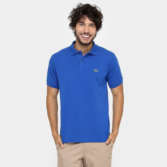 Camisa Polo Lacoste Original Fit Masculina - Azul Royal - Compre ... ce962b0e26