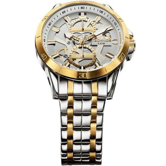 a80f1b3aab6 Relógio Technos Time de Heróis Adhemar Ferreira - Atletismo 6P73AD 5C 45mm  Racer - Prata