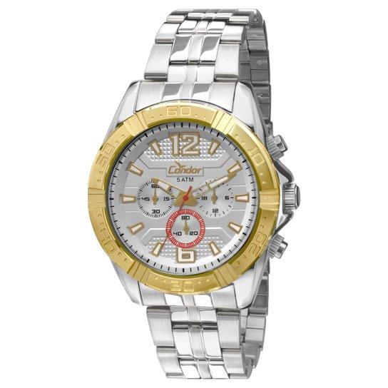 2d699be2366 Relógio Condor Dourado - Prata e Dourado - Compre Agora