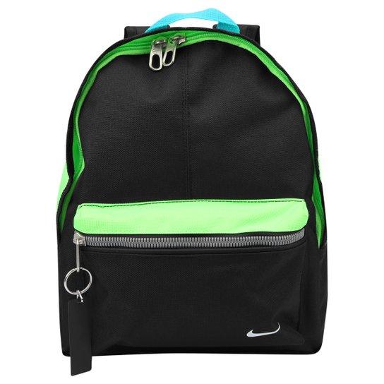 e3e2d4786 Mochila Infantil Nike Classic Base - Preto+Verde Limão