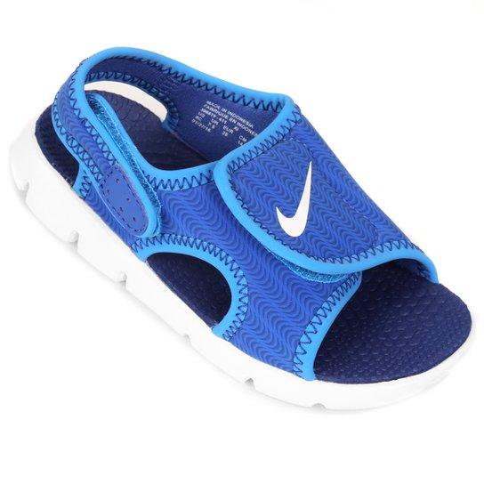 cd5e1fb0f7 Sandália Infantil Nike Sunray Adjust 4 - Azul+Branco