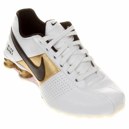 25993e958aa Tênis Nike Shox Deliver - Branco+dourado