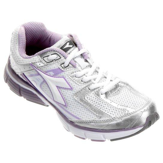 Tênis Diadora Walker Feminino - Prata e Lilás - Compre Agora  fe0855df83785