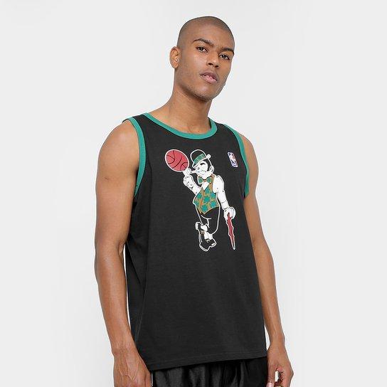 8be692f3e6 Camiseta Regata Machão NBA First Boston Celtics 17 Masculina - Preto+verde