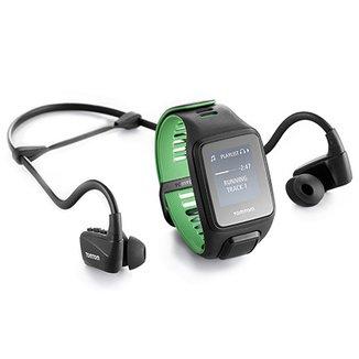 Relógio GPS c  Monitor Cardíaco no Pulso + Fones TomTom Runner 3 Cardio +  Music 45923acb8f