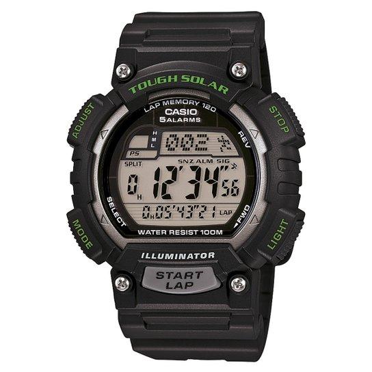 f63223399 Relógio Casio Digital STL-S100H - Preto e verde - Compre Agora ...