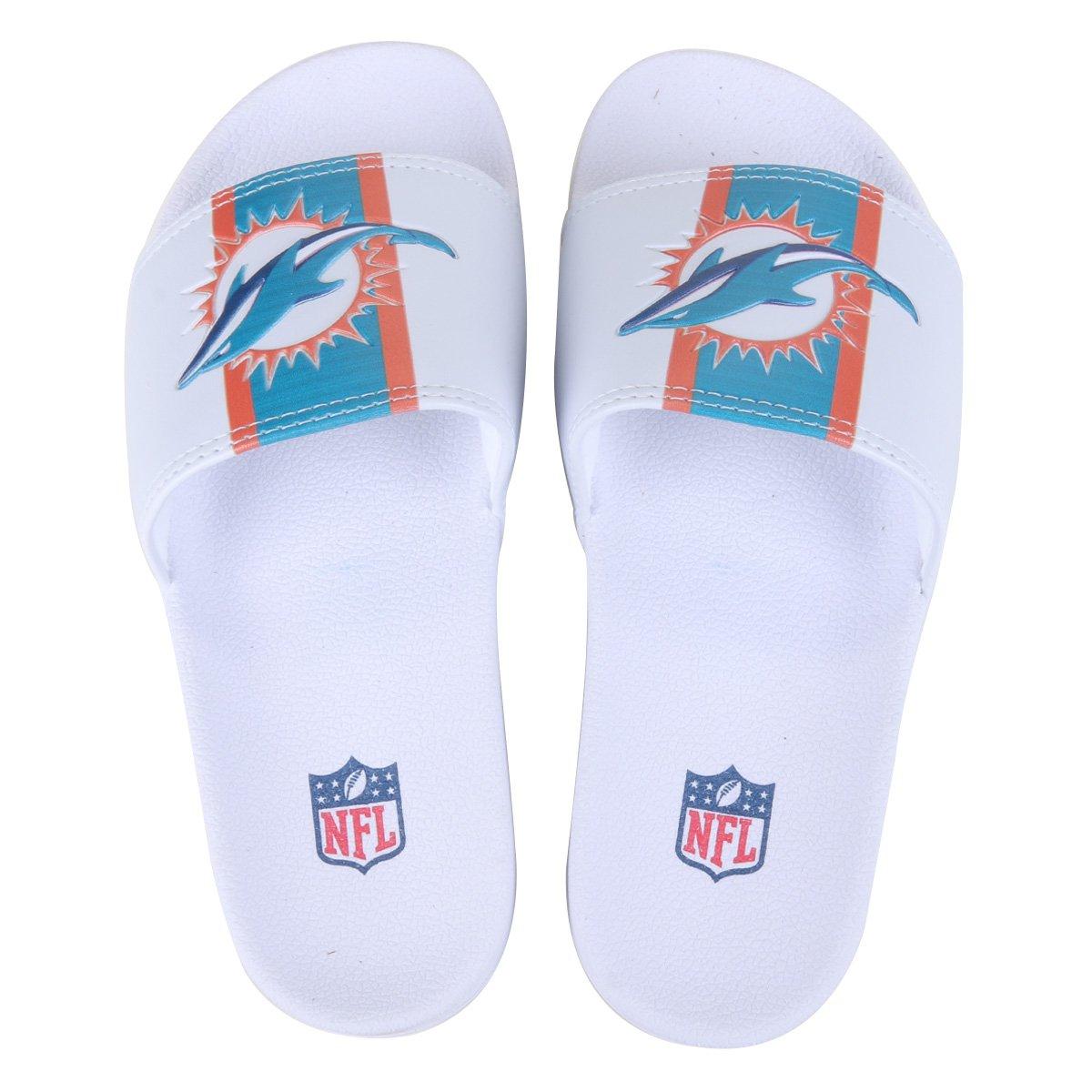 Chinelo NFL Miami Dolphins New Era Slide Masculino